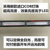 Car highlight COB high power strobe light strip ceiling type red and blue police light engineering school bus warning light 12V