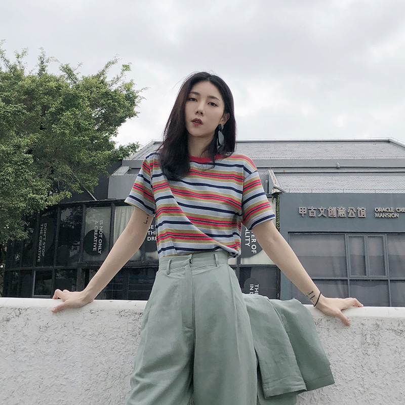 彩色棉t恤