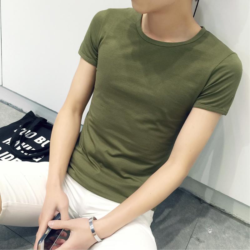 包邮9.9元九块九男装上班干活穿衣服圆领修身韩版T恤短袖便宜10元
