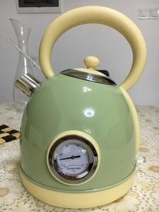 英国进口304不锈钢电热水壶家用钢琴烤漆复古可爱电水壶烧水壶