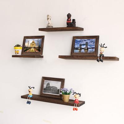 一字隔板墙上置物架客厅墙面壁挂卧室装饰架子置物架简约复古实木排行榜