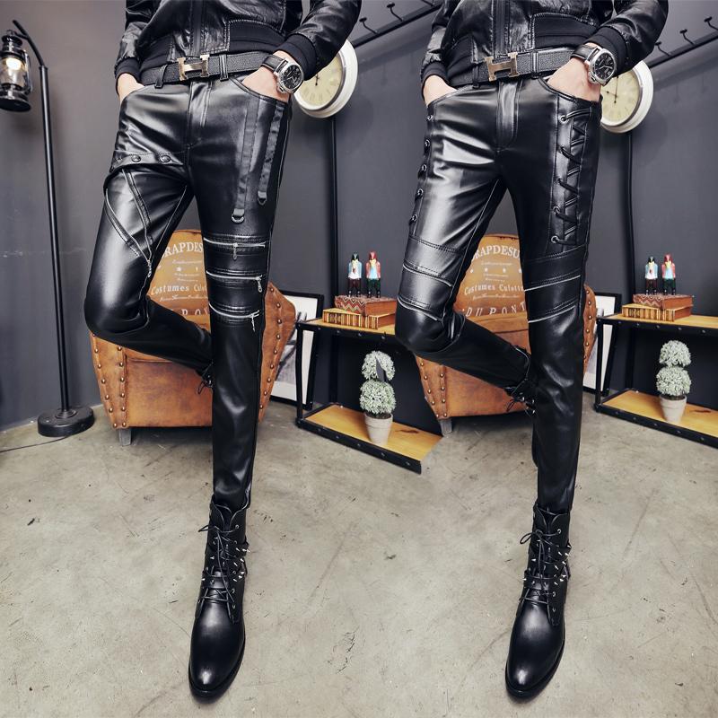 Кожаные брюки Артикул 561115700393