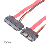 SATA 7+15 to 7+6 data cable 0.5 m mini SATA revolution SATA female 7+6 to 7+15 cable