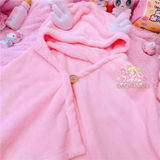 Fantasy magic wings Sakura warm plush shawl blanket hooded girl shawl magic wand warm shawl