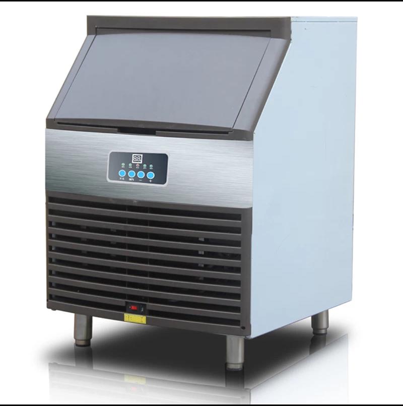 惠康制冰机大型商用奶茶店酒吧120KG方冰全自动小型方冰块制作机