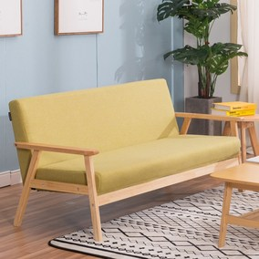 2018约实木单人双人三人日式沙发布艺椅休闲卡座沙发椅咖啡小型