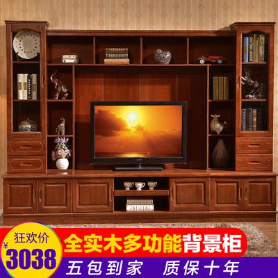 多功能客厅电视背景墙柜影视墙柜酒柜实木电视柜储物柜组合大户型哪个牌子好