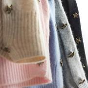 新款星星羊绒衫