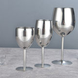 304 stainless steel wine glass goblet wine champagne glass creative hotel bar thickening wine glassware