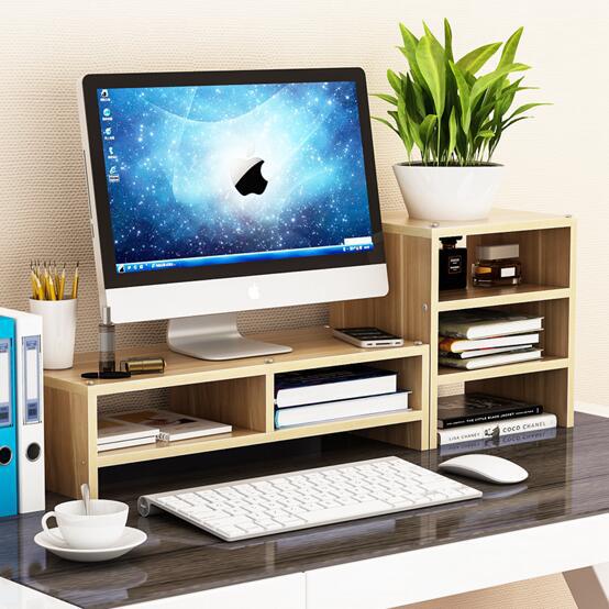 护颈椎电脑显示器屏护颈增高架办公室液晶底座桌面键盘收纳盒置物