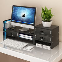 Neck computer display screen increased office LCD base desktop keyboard storage box storage