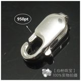 PT950 Platinum Accessories Fish Hook Buckle Lobster Buckle 3*8 4*10 Spring Buckle