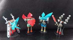 罗卜特DIY原创男女孩益智手工拼装机器人新品折纸限量款玩具组合