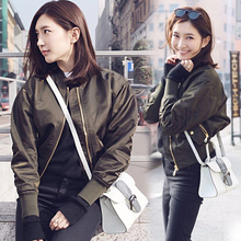 Jiang Shuying Star's Baseball Suit, Pilot Jacket, Female Autumn Suit, New Korean Short Style and Loose Style in 2019