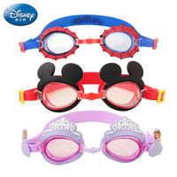 Disney Children's Goggles Swimming Glasses Spider-Man Stereo Boys Girls Waterproof Anti-fog Kids Swimming Goggles