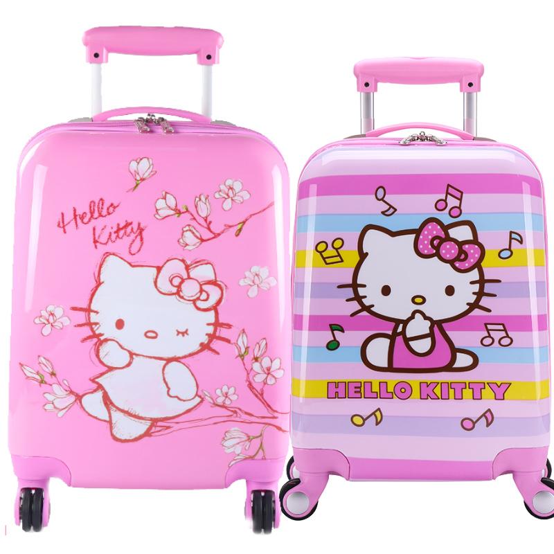 儿童拉杆箱旅行箱女童公主行李箱hellokitty猫18寸宝宝卡通拉杆包