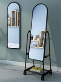 试衣镜立体镜门店室内镜面镜片店用 镜子经济全身镜衣柜加装 有框