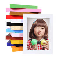 Solid wood seven-inch wall hanging picture frame swing frame 7 inch 5 6 8 10 inch 12 16 inch A4 creative children's simple photo frame