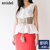 snidel 2017春夏新品 娃娃领无袖上衣SWFB172120