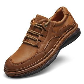骆驼牌春秋手工缝制男鞋大码真皮休闲商务皮鞋防臭摇摇鞋保暖棉鞋