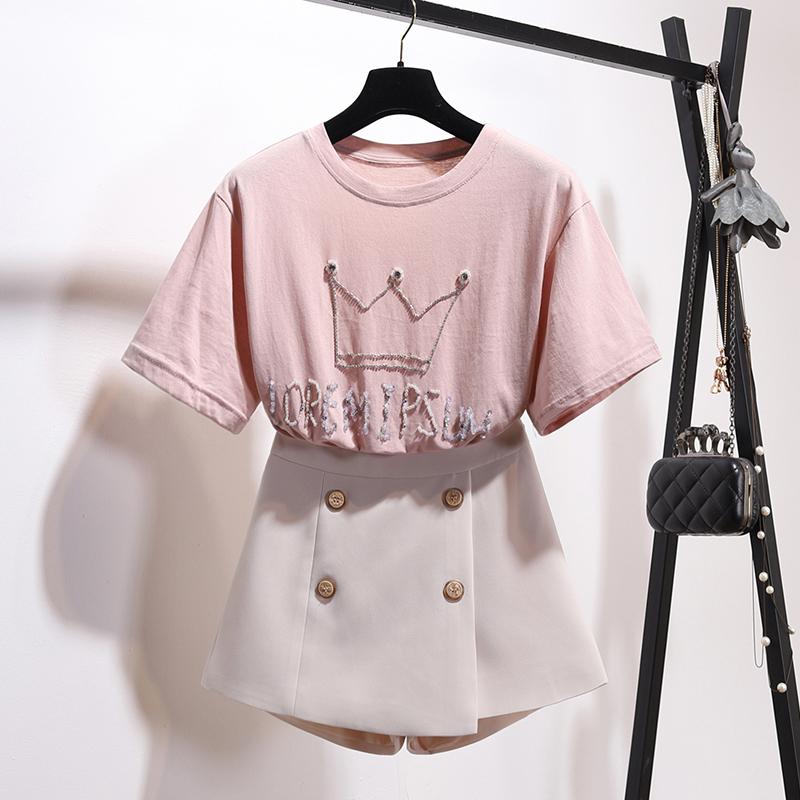 英文粉色t恤