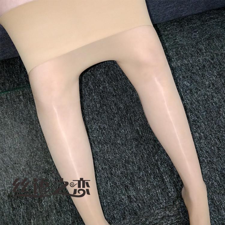 8D无缝宽腰油亮丝袜光滑男女款带套套神裤丝袜无痕连裤袜打底袜