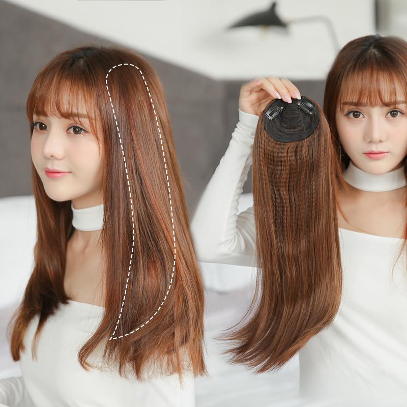 假发片女长发头顶补发垫发根自然蓬松直发卷发隐形无痕接发一片式