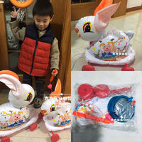 Spot 2019 kindergarten New Year Lantern Festival traditional plastic inflatable hand pull rabbit lamp to send pump