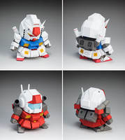 K paper soul WXY Pipi new practice hands 5CM SD GUNDAM VER2.0 up to paper model DIY free cutting