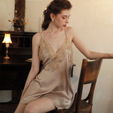 Good night sexy pajamas summer thin sling night dress summer sexy lace pajamas women's home clothes