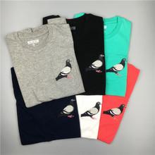 STAPLE pigeon pocket tee 口袋鸽子 刺绣logo 纯色短袖T恤情侣衫