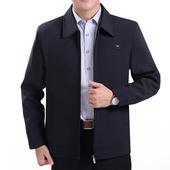 秋季特价中年男装上衣休闲薄款外套夹克中老年人男士夹克衫爸爸装