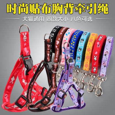 小狗狗牵引绳小型犬中型猫咪遛狗绳子泰迪狗链子胸背带宠物用品