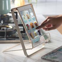 手机乐谱铁艺简约ipad支架桌面北欧收纳菜谱架折叠书架杂志阅读架