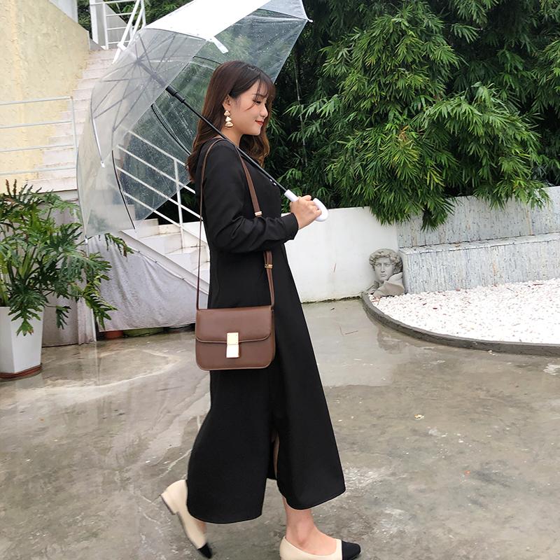 腰粗遮肚减龄新款韩版显瘦女装修身大码秋款连衣裙秋季微胖mm洋气