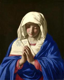 饰画墙画走廊883 宗教耶稣圣母油画布喷绘画芯教堂画厂家直销装
