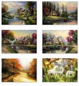 饰画 托马斯欧洲风景喷绘油画 厂家直销画芯油画布118 客厅装
