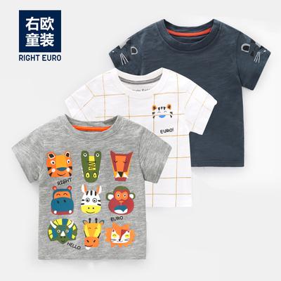 男童短袖T恤2019夏装新款童装儿童宝宝半袖上衣婴儿小童潮洋气女