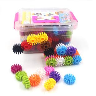 儿童益智力拼装齿轮花片玩具男童幼儿园小孩男孩拼插积木3-6周岁5
