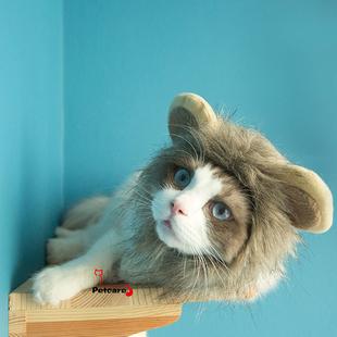 渐霏爱宠|圣诞帽 宠物猫咪小帽子 变身萌萌哒小狮子 还有手工编制