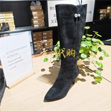 专柜正品 时尚 千百度女鞋 国内代购 冬款 过膝长靴A7521411