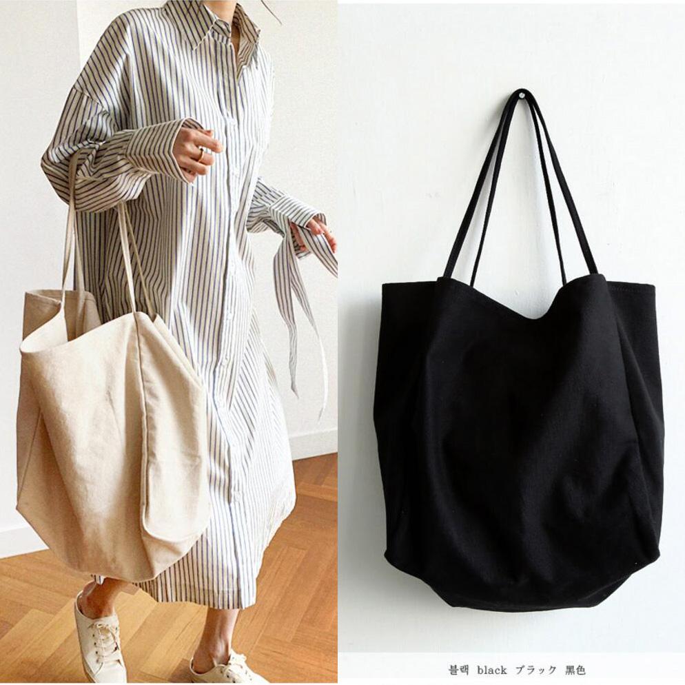 韩国知原官方韩代正品首尔女包手提斜跨大容量休闲包纯色时尚布包
