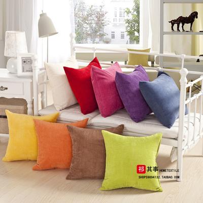包邮 沙发抱枕 靠垫含芯 靠枕 抱枕套不含芯 靠垫套 定做棉麻亚麻