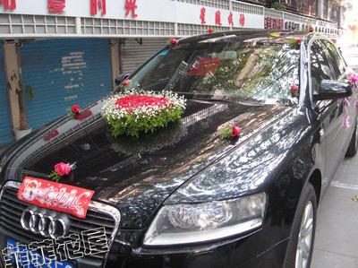 福州鲜花实体店婚车花车彩车布置送副车布置市区可上门服务