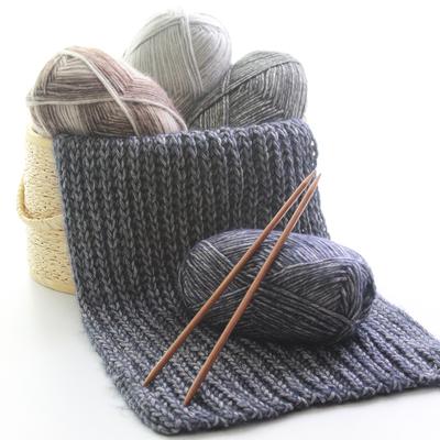 温暖你心毛线手工编织棒针男女士情侣宝宝围巾线围脖毛衣线粗毛线
