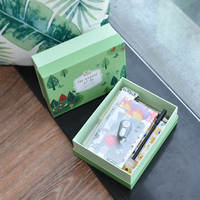 Korea's new green wild forest stationery gift box primary school supplies gift bag middle school student gift gift bag