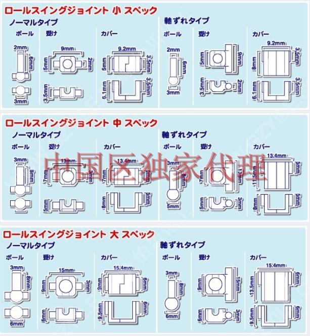 HOBBY BASE関節技EX头手脚用联动关节T20 T21 T22 关节技超可动