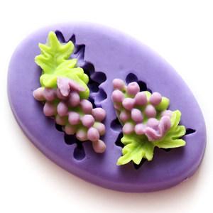 妮可迷你硅胶模具 葡萄巧克力模具 软陶粘土手机装饰品模具软模具