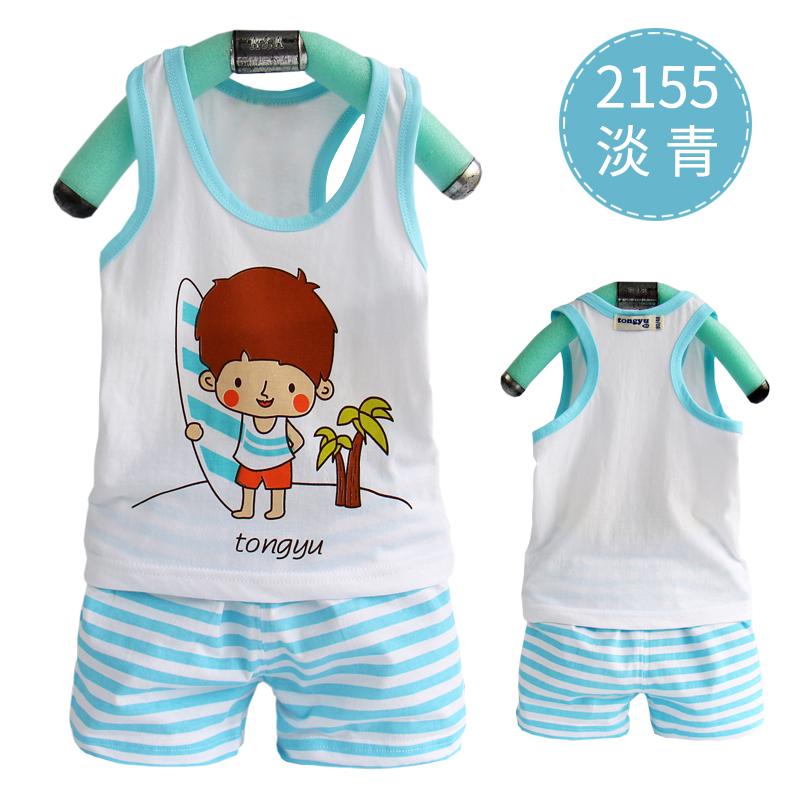 儿童运动套装2018新款童装夏装男童短袖两件套男宝宝休闲衣服夏季