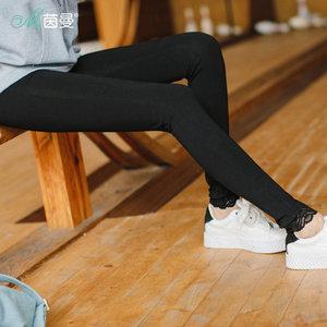 茵曼旗舰店女裤2018夏装新款百搭显瘦高弹铅笔裤紧身裤打底裤长裤